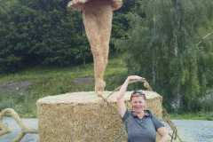 Les Verneys salmu skulptūru izstāde Alpos 23-07-2017