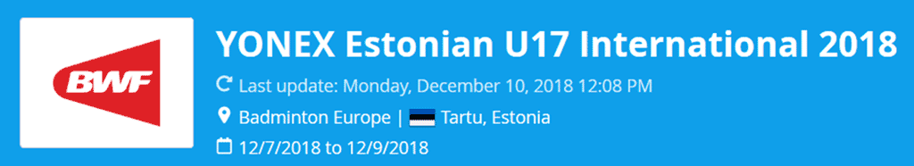 estonian u17 international 2018 lat