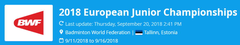 european junior championships 2018 lat