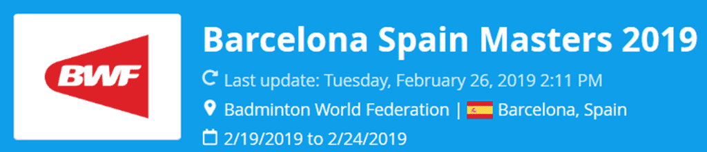 barcelona spain masters 2019 lat
