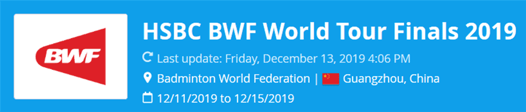 bwf world tour finals 2019 wang/huang