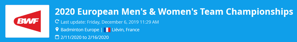 european men's team championships 2020