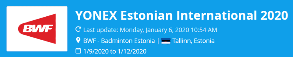 estonian international 2020 lat