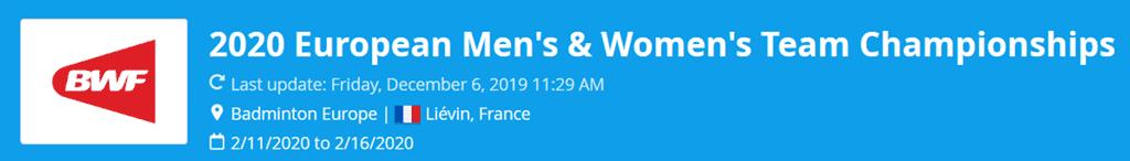 european women's team championships 2020